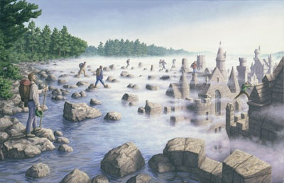 Giclee on Canvas 'Stepping Stones' by Rob Gonsalves