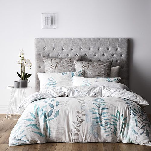 Winter Frost Quilt Cover Set Silver