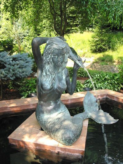 Mermaid fountain fountains ponds an pools pinterest for Garden pond waterfalls for sale