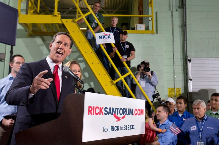 New York Times: May 28, 2015 - Santorum announces second run for White House, this time with little traction