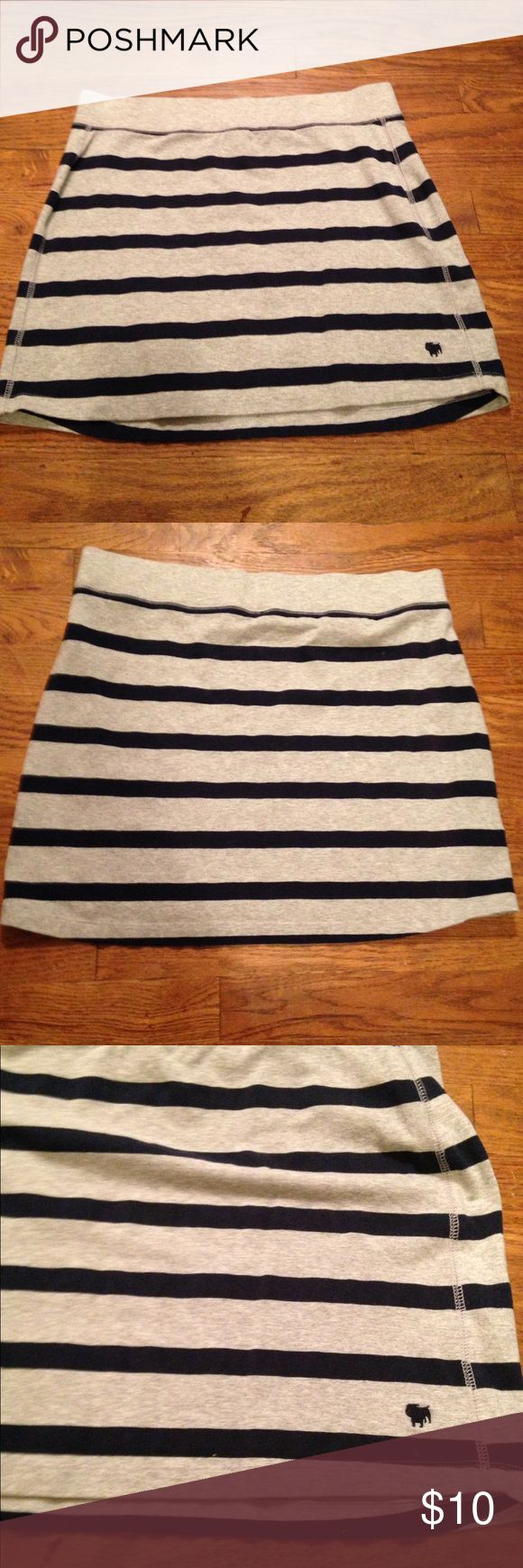 Aeropostale cotton stripped mini skirt Aeropostale navy and gray stripped cotton mini. Super soft cotton... comfy and cute!  In new condition! Aeropostale Skirts Mini