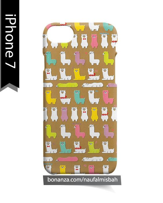 Llama Standing Sitting Pattern iPhone 7 Case Cover Wrap Around