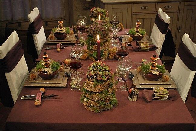 tables de stef automne deco table pinterest table. Black Bedroom Furniture Sets. Home Design Ideas