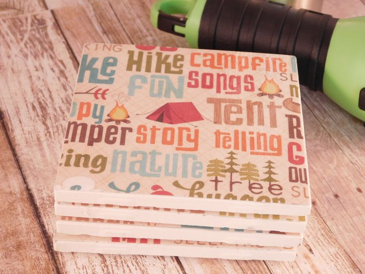 A personal favorite from my Etsy shop https://www.etsy.com/listing/553714696/camping-coasters-wilderness-gift-rustic