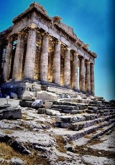 The Parthenon, an icon of Western civilization, is one of the most famous buildings in the world. The temple, built in the fifth century BC, overlooks the city of Athens from its majestic position on top of the sacred Acropolis Hill. So Cool...this is amazing. #kevco #kevcobz #kevcotravel