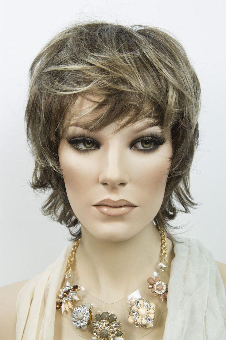 Muted Short Straight Wigs Straight wig, Wigs