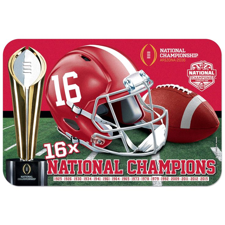 "Alabama Crimson Tide WinCraft 20"" x 30"" College Football Playoff 2015 National Champions Contour Mat - $23.99"