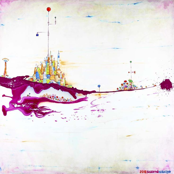 "Salome Hidalgo, ""Mundoaparte IX"", technika mieszana/ mixed media on canvas, year: 2012, 90cm x 90cm"