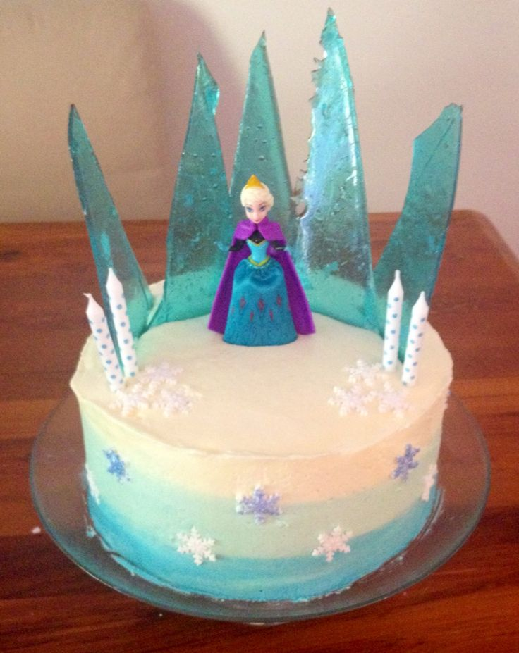 Frozen Cake for a cute 4 year old!