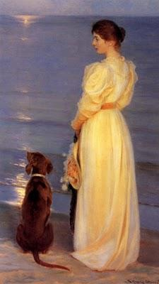 "Peder Severin Krøjer, (1851-1909), ""Near Skagen"". (Denmark).Danishes Artists, Severin Kroyer, Yellow Dresses, The Artists, Peder Severin, Severin Krøyer, Summer Night, Painting, Krøyer 1851 1909"