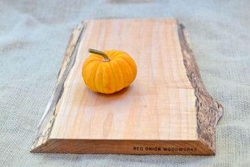 Rustic Wood Cutting Board, Natural Edge, Salvaged 372 by Red Onion Woodworks traditional-cutting-boards