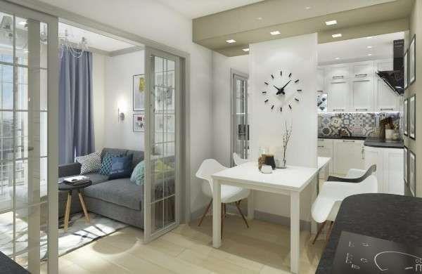 Дизайн кухни в маленькой квартире студии 25 кв м - фото интерьера