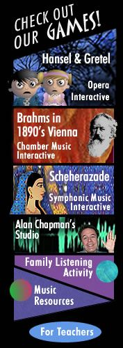 Free web resources and games for classical music education for children of all ages and their families and teachers