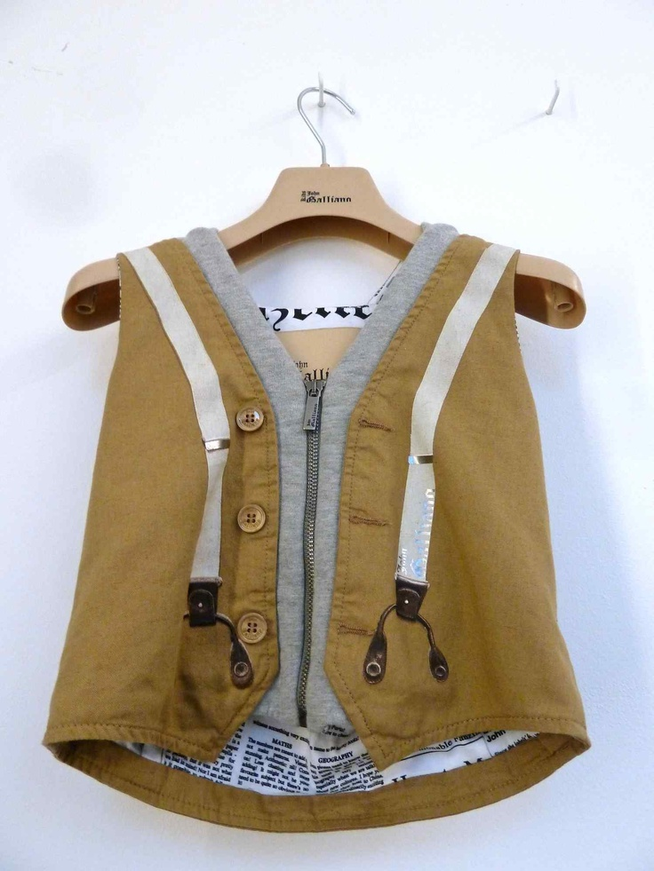 Boys waistcoat for John Galiano Junior collection for summer 2013
