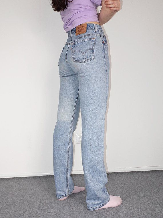 Levis 501 30 34 Light Washed Distressed High Waist Mom Jeans Buttonfly Classic Blue Levi Strauss Jeans Vintag High Waisted Mom Jeans Mom Jeans Retro Pants