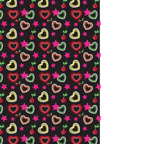 design - Stars and hearts wrapping paper by Milena Martinez