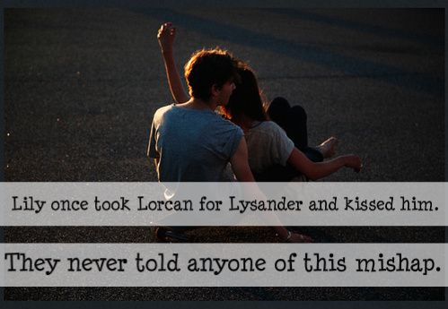 Lily once took Lorcan for Lysander and kissed him. They never told anyone of this mishap. Submitted by: anon.