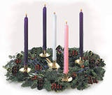 Details of advent wreath for Christmas