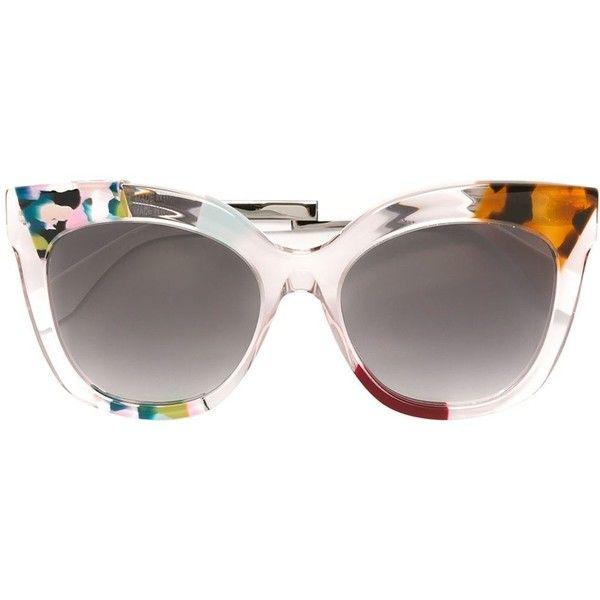 Fendi 'Jungle' sunglasses (136.865 HUF) ❤ liked on Polyvore featuring accessories, eyewear, sunglasses, multicolour, camo sunglasses, fendi sunglasses, camouflage sunglasses, acetate sunglasses and colorful sunglasses