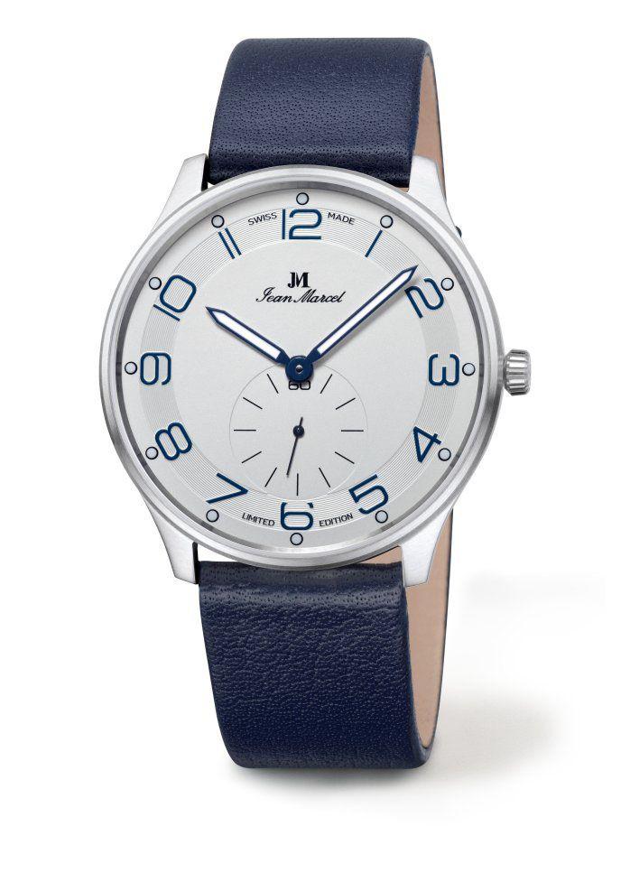 Eine hochwertige mechanische Uhr zum Einsteigerpreis bietet Jean Marcel mit der Somnium Handaufzug. Das Edelstahlgehäuse der schlichten uhr beherbergt ein Schweizer Handaufzugskaliber. [1014]