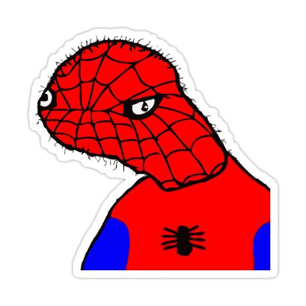 Spoder Sticker By Young Feminist In 2021 Spiderman Spiderman Meme Memes