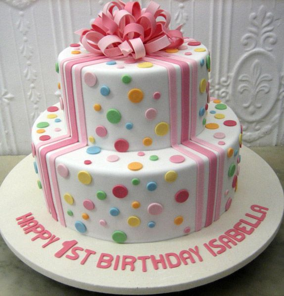 Girl cake  Chanel CakeDelphine1st Birthday  203 best Girls First birthday cake images on Pinterest   Biscuits  . Easy First Birthday Cake Girl. Home Design Ideas