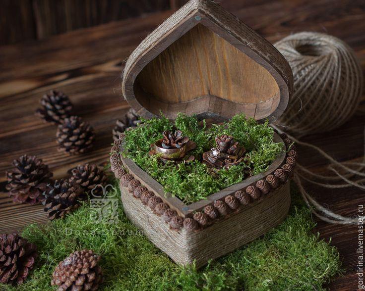 Rustic style wedding rings box!