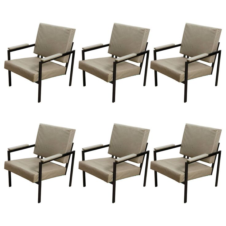 For Sale On   Set Of Six Chairs,designed By Pierre Guariche Manufactured By  Meurop.