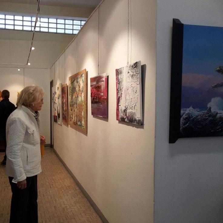 """""""Passato e presente"""" Il mio quadro esposto nella collettiva:""""Ricerca e genialità"""" Galleria """"Immagini, Spazio, Arte"""" di Cremona    dal 30 aprile al 13 maggio 2017"""
