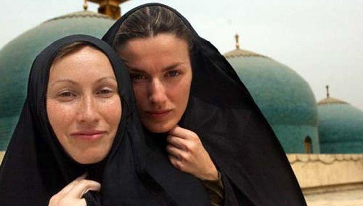 Letizia Ortiz durante la guerra de Irak, conflicto que cubrió para TVE