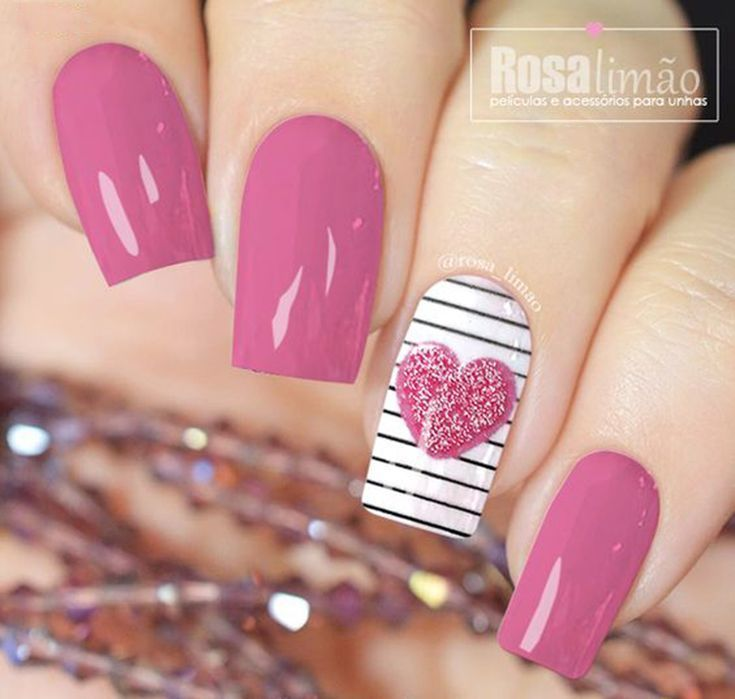 25 > 55 New collections of the best nail art design for Valentine's Day