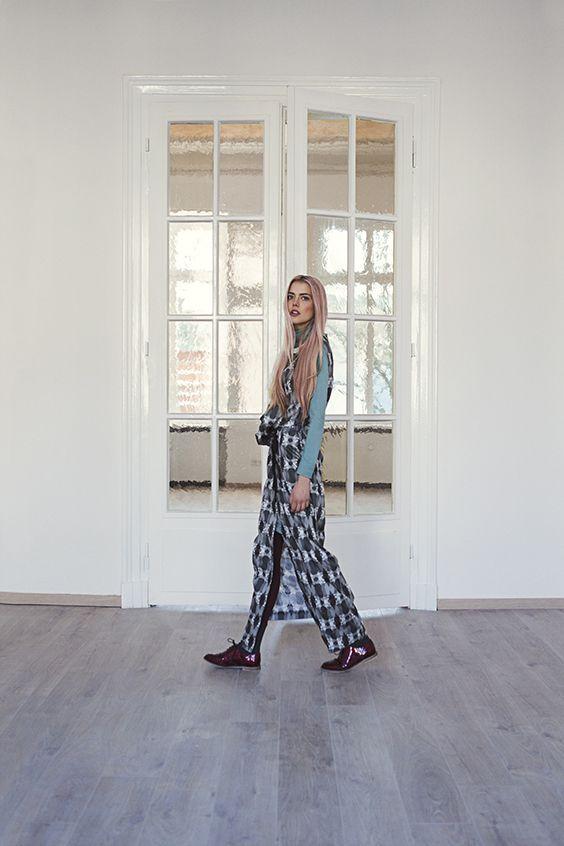Babel - Fall Winter 2016 - graduate collection - Fashion Design Lisa Bender - European Identity - Voronoi Print European Capitals - Photography Lina Zangers