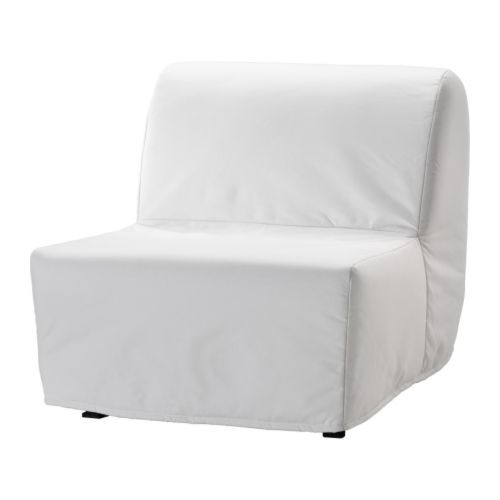 LYCKSELE LÖVÅS Chair-bed IKEA The cover is easy to keep clean as it is removable and can be machine washed.