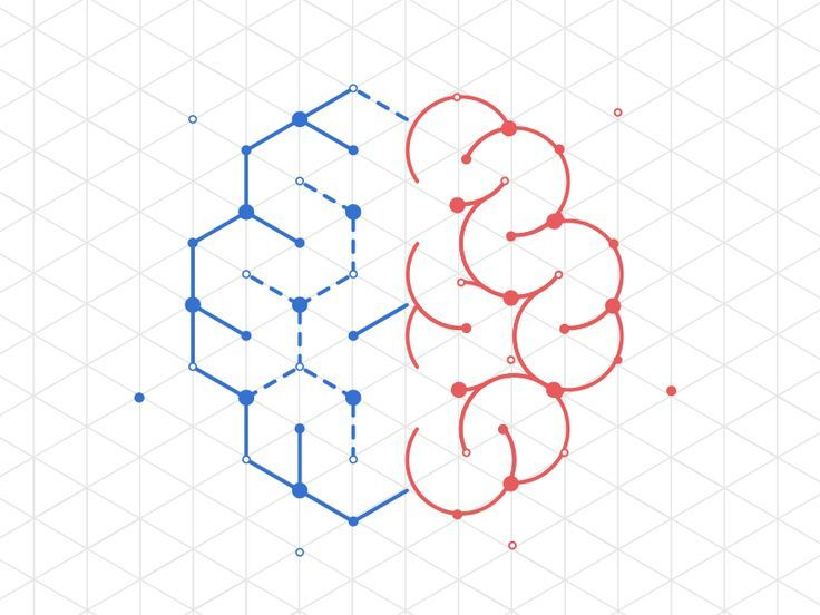 Hi folks !  Here is the first try to create a brain in vector combining the technologic side of left brain (line chart, isometric shapes, like printed circuit...) with the creativity of the right b...