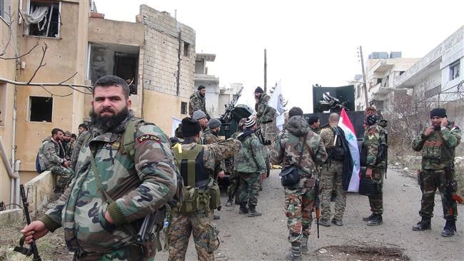 The Syrian Army troops and their popular allies are engaged in an intense battle with the ISIL terrorists Southeast of Homs, Deir Ezzur's Neighborhoods and Aleppo provinces.