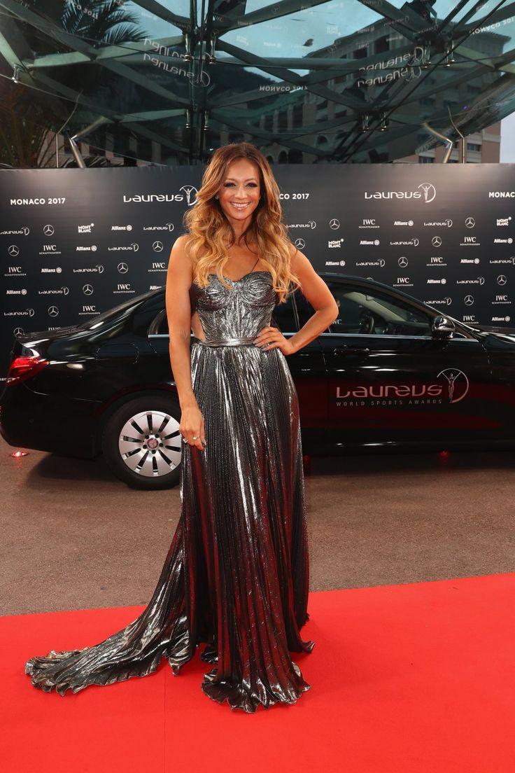 La alfombra roja de los Premios Laureus..... La periodista Kate Abdo fue copresentadora de la gala