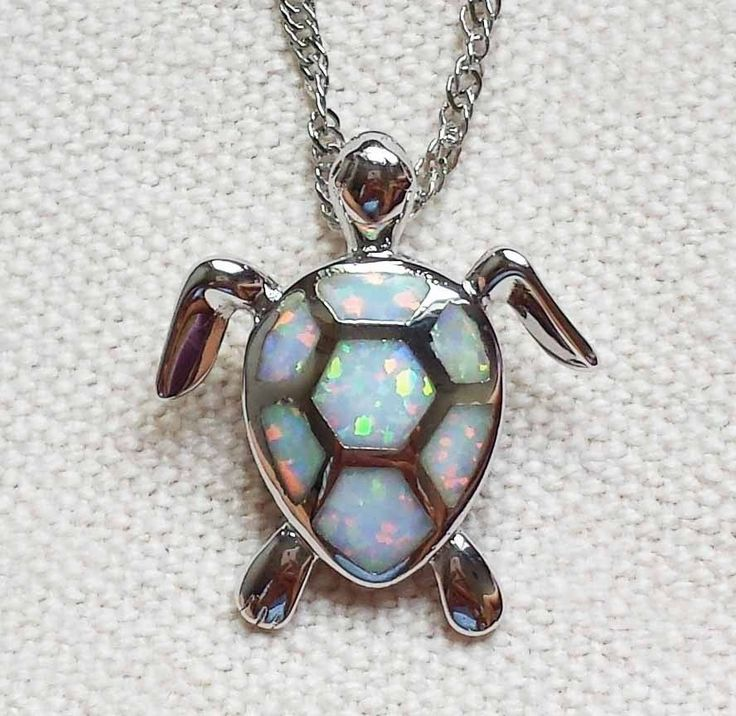 Fire Opal Sea Turtle Pendant - Luna's Warehouse - 2