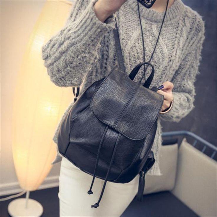 $9.53 (Buy here: https://alitems.com/g/1e8d114494ebda23ff8b16525dc3e8/?i=5&ulp=https%3A%2F%2Fwww.aliexpress.com%2Fitem%2F2017-New-Fashion-Leather-Drawstring-Satchel-Shoulder-Backpack-Newest-Vintage-Rucksack-Soft-PU-Leather-Bags-Travel%2F32785261918.html ) 2017 New Fashion Leather Drawstring Satchel Shoulder Backpack Newest Vintage Rucksack Soft PU Leather Bags Travel School S65 for just $9.53