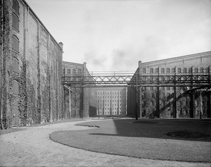 Distillery buildings in Walkerville (now part of Windsor, Ontario) c. 1910