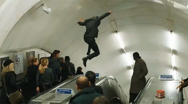 The Tube has always been a popular location for films. This is a still from the latest James Bond film, Skyfall.