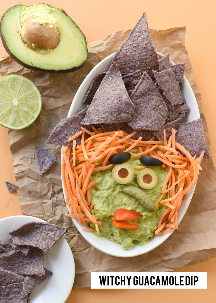 Get in the Halloween spirit by turning plain ol' avocados into this Witchy Guacamole Dip. It's magic!