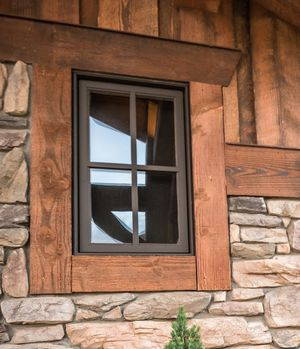 I really like the bronze window cladding and the color of the wood trim.
