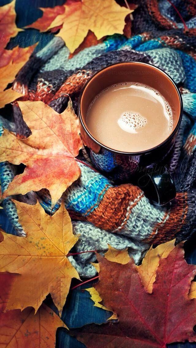 Осенние картинки с кофе на телефон