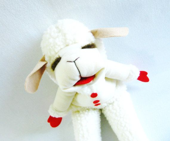 Vintage Puppet Lamb Chop Puppet Lamb Puppet by HipCatRetroVintage