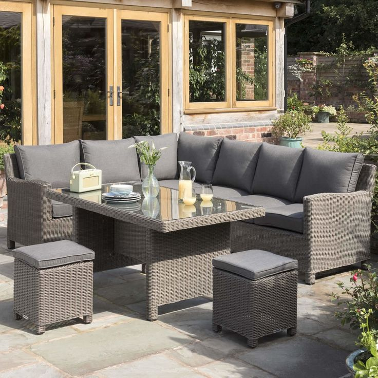 Kettler Palma Casual Dining Corner Set  RH  Rattan GLASS TOP TABLE    available to buy online from Garden Furniture World  We sell a large range  of garden. 27 best Garden dining tables   chairs images on Pinterest   Dining