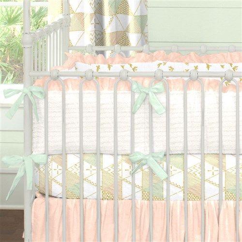 Peaches And Cream Crib Bedding Nursery By Carousel Designs