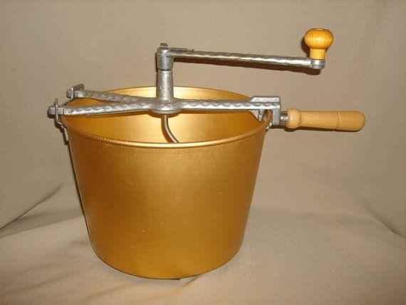 Hand Crank Mixer ~ Vintage mirro manual hand crank dough mixer aluminum