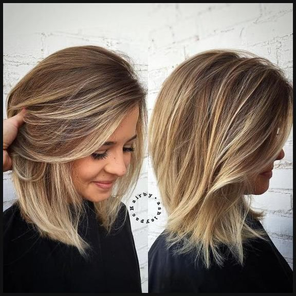 Frisuren Blond Schulterlang
