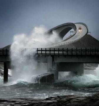 Ensure your windows are rolled up before traveling this bridge. - - - - Storseisundet Bridge, Norway