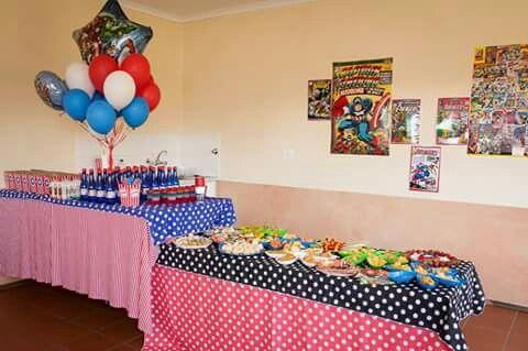 Avengers food table